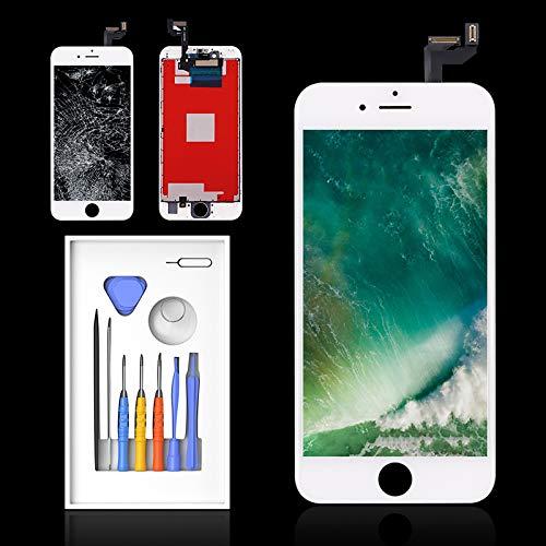 "Pantalla para iPhone 6s Blanco, 4.7"" LCD Digitalizador Pantalla, Dureza Extrema, Compatible con 6S Pantalla, Antiarañazos, Antihuellas, Ultra Resistente Garantía 2 Años 100%"