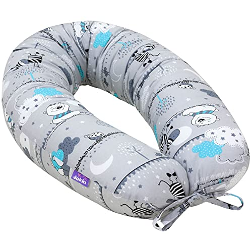 Jukki® Cojín de lactancia, almohada para dormir de lado, cojín de embarazo,...