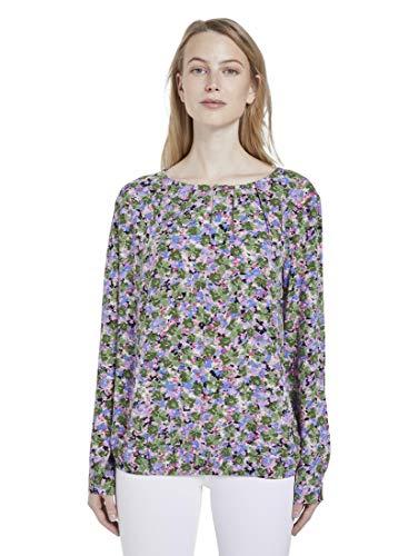 TOM TAILOR Damen Blumenmuster Bluse, 22098-colorful floral desi, 38