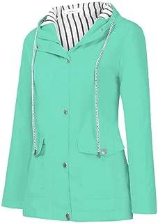 IMAGL Fashion Outdoor Raincoats Jacket for Women Plus Size M-5XL Waterproof Windproof Hoodie Coats