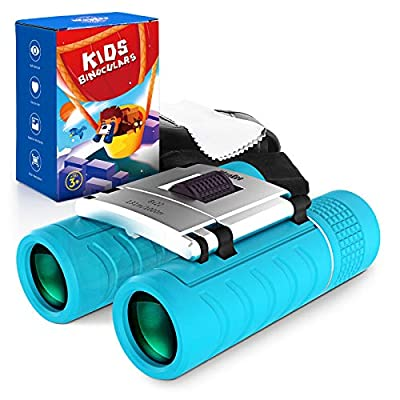 Binoculars for Kids, Compact Kids Binoculars for Boys and Girls Bird Watching, High-Resolution Real Optics 8x22 Kids Telescopes - Best Gifts Toys for 3 4 5 6 7 8 9 10 11 12 Years Old Boys Girls Child by WayEee