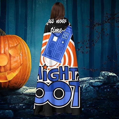 AISFGBJ Mighty Booth Doctor Who Tardis Boosh Unisex Navidad Halloween Bruja Caballero con Capucha Albornoz Vampiros Capa Capa Cosplay Disfraz