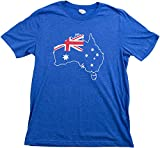 Australia Pride | Vintage Style, Retro-Feel Aussie Unisex T-Shirt-Adult,L Heather Royal Blue