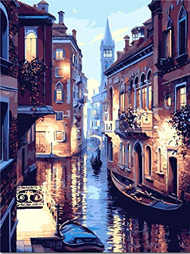 JIANGAA 5d DIY Home Schönheit Ölgemälde nach Zahlen Bild Zeichnung Färbung auf Leinwand Malerei von Hand Wandfarbe Landschaft Runde Diamant 30x40cm
