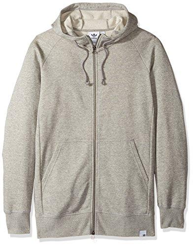 adidas Originals Men's Outerwear X by O Full Zip Hoodie, Medium Grey Heather, XX-Large