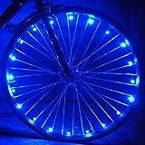 2 sets bike spoke light bicycle wheel LED strip - glowhut.com (blue)