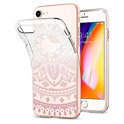 Spigen Coque iPhone 7 Coque iPhone 8 [Liquid Crystal] Couleur [Shine Pink] Souple, Ultra-Mince, Semi-Transparent, Adjustement Parfait, Coque Compatible avec iPhone 7 et 8