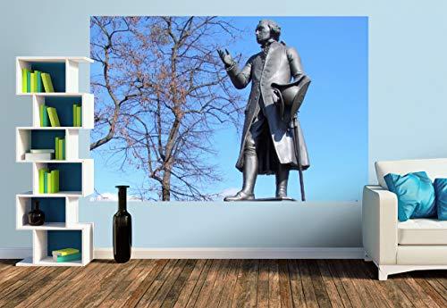 Premium Foto-Tapete Kant-Denkmal in Königsberg/Kaliningrad (versch. Größen) (Size M | 279 x 186 cm) Design-Tapete, Wand-Tapete, Wand-Dekoration, Photo-Tapete, Markenqualität von ERFURT