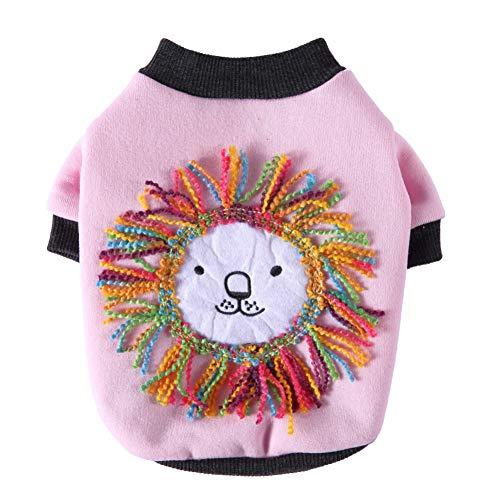 Poseca Sudaderas con capucha para perros pequeños Disfraz de León para perro Suéter para perros Abrigo para cachorros Ropa de Chihuahua Ropa de invierno para mascotas para perros pequeños y gatos