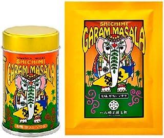 八幡屋礒五郎 七味ガラムマサラ 1缶12g 1袋15g セット