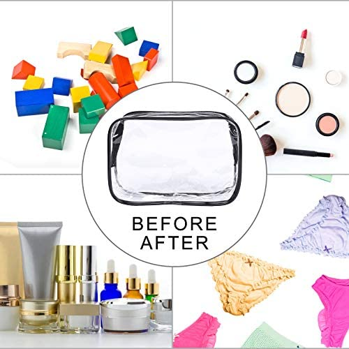 4 Packs of Clear Makeup Bags, TSA Approved Travel Bag, Cosmetic Bag, Plastic Airport Airline Handbags That Can be Carried with You