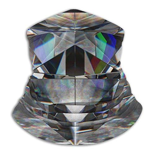 shenguang Beautiful Black Diamond Jewelry Unisex Microfiber Neck Warmer Headwear Face Scarf Mask For Winter Cold Weather Mask Bandana Balaclava