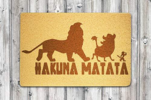 Hakuna Matata Disney - Felpudo de bienvenida, diseño de rey león