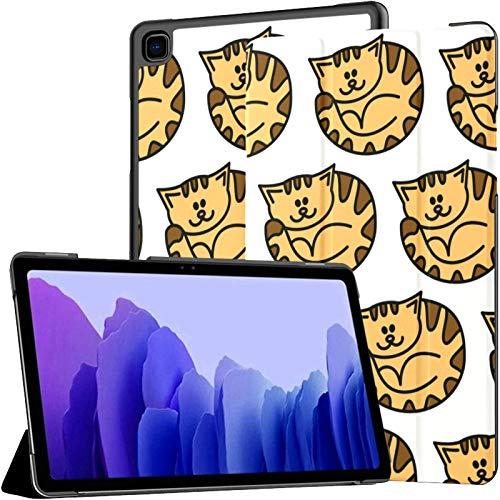 Funda de piel sintética para Samsung Galaxy Tab A7 de 10,4 pulgadas de 2020, diseño de gatos, color rojo