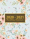 2020-2021 Monthly Planner: large see it bigger 2-year monthly planner | Flower Watercolor Cover | 2 Year Calendar 2020-2021 Monthly | 24 Months Agenda ... Design (2020-2021 see it bigger planner)