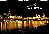 Nachts in Dresden (Wandkalender 2022 DIN A3 quer): Die Stadt Dresden nachts fotografiert. (Monatskalender, 14 Seiten )