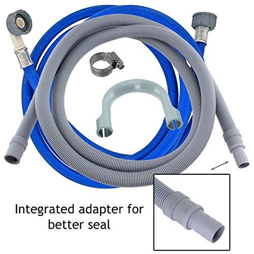 Spares2go Universal de Agua fría de llenado de Entrada de tubería de alimentación de Largo (3,5 m) + 2,5 m de la Manguera de Drenaje Kit de extensión