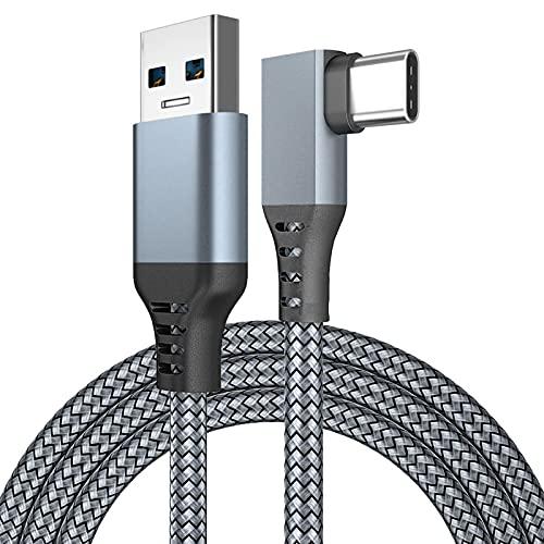 Teckey Cavo USB Total 5M / 16Ft Compatibile per Oculus Quest/Quest 2 PC Steam VR Gaming, Trasferimento Dati Ad Alta velocità E Cavo di Prolunga del Segnale