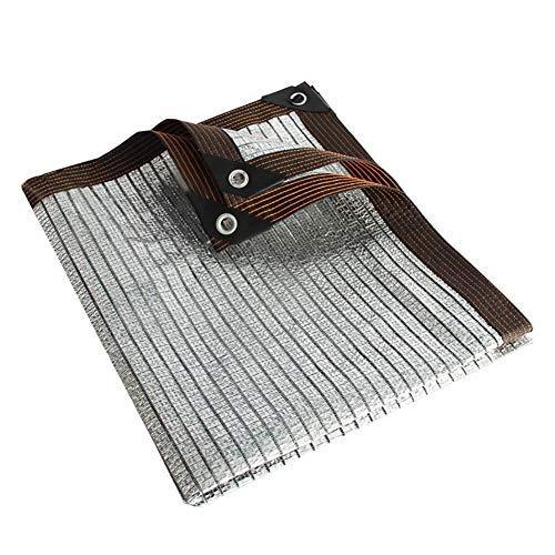 WXQIANG Shade Protector Solar Reflectante Aluminet con Ojales, el 75% Neto Resistente a UV for Villa Marquesina Techo Balcón, Interior o Exterior Protección Solar, Aislamiento térmico. (Size : 3×6M)