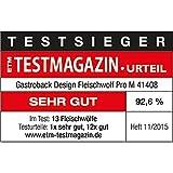 Gastroback 41408 Design Fleischwolf Pro M, 2.000 Watt max, Edelstahl-Kreuzmesser, Aluminiumdruckguss-Gehäuse, Aluminium, silber - 10