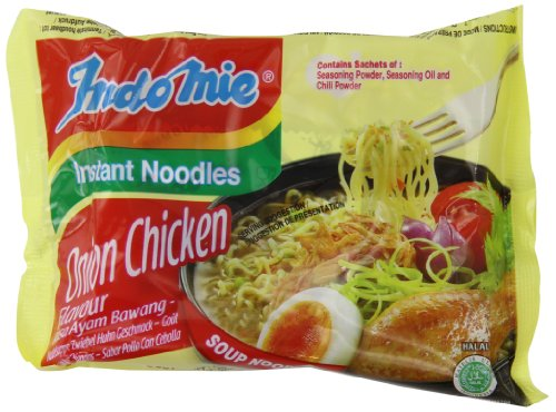 indomie Halal Onion Chicken Noodles 75 g (Pack of 40)