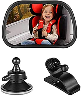 Vextronic Baby Car Mirror for Back Seat, Rear View Facing Back Seat Mirror Child Safety Rearview 360 Degree Adjustable Forward Baby Mirror for Infant. (Small)