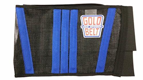 der Original Gold-Gürtel Zwei Cool Motorrad Nierengurt, Schwarz/Blau, 27
