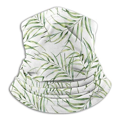 Fleece Necks Scarf Martinica Banana Leaf en Blanco Winter Ski Neck Cover Mascarilla más cálida, para Mujer
