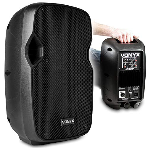 VONYX Hi-End Active Powered PA Speaker Small Powerful 8 Inch Woofer...