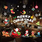 Longsing Vinilo Navideño Copos de Nieve Pegatina Navidad Pegatinas de Ventana Navidad Dec...