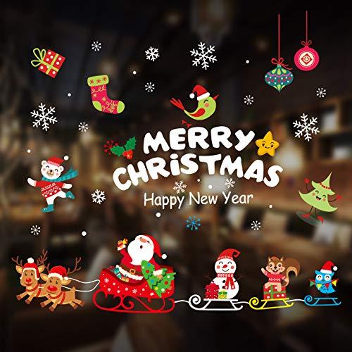 Longsing Vinilo Navideño Copos de Nieve Pegatina Navidad Pegatinas de Ventana Navidad Decoraciones de Acción de Gracias Adornos Artículos de Fiesta