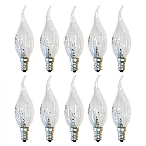 10X CANDELE lampadina colpo di vento Cosy 40W e14trasparente lampadina 40Watt ad incandescenza