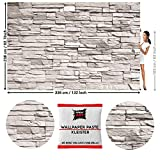 GREAT ART Foto Mural Pared de Piedras Blancas 336 x 238 cm - Papel...
