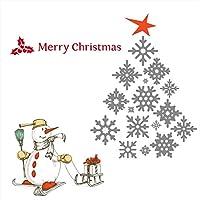 ウォールステッカー クリスマス 飾り 90×90cm シール式 装飾 オーナメント ツリー リース 2019クリスマス 壁紙 はがせる 剥がせる カッティングシート ツリー 赤 星wsl-015089-ws