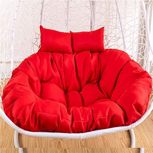 GGYDD Cojín para silla colgante, sin soporte, multicolor, para columpio, grueso, para colgar, respaldo con almohada, color rojo, 130 x 95 cm