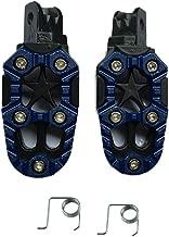 Componentes XIANGBAO Universal 8mm Aleación de aluminio de la motocicleta Resto del pie Estacas del pie pedal con resorte para la modificación de la motocicleta todo terreno accesorio (Color : Azul)