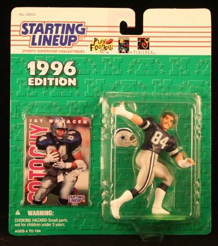 Starting Lineup Jay NOVACEK/ Dallas Cowboys 1996 NFL Action Figure & Exclusive NFL Collector Trading Card