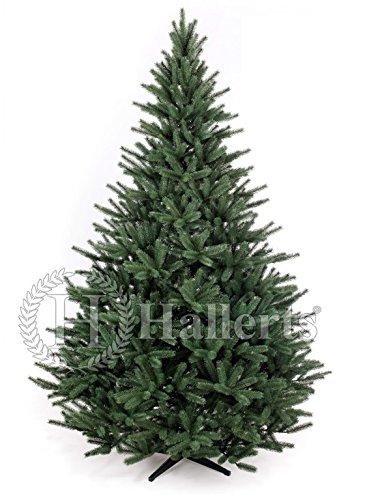 Original Hallerts® Spritzguss Weihnachtsbaum Richmond 210 cm als Edeltanne - Christbaum zu 100% in Spritzguss PlasTip® Qualität - schwer entflammbar nach B1 Norm, Material TÜV und SGS geprüft - Premium Spritzgusstanne