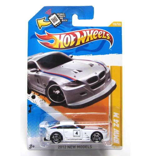 Hot Wheels 2012 New Models #18/50 # 018 BMW Z4 M White 1:64 Scale