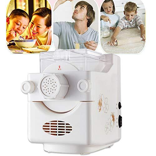 Elektrische Pasta Nudelmaschine,Vollautomatisch Maschine,Pastamaker Nudeln 160W Weiß,Pastamaschine mit 9 Schimmel,Elektrische Teigwarenmaschine