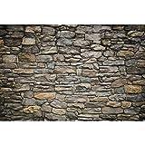 GREAT ART Mural De Pared – Muro De Piedra Gris – Mural Revestimiento De Paredes Mirada De Piedra...