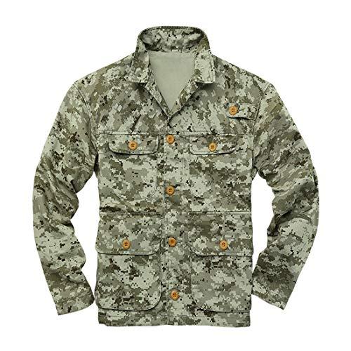 Insenver Men's M65 Field Jacket Camo Lightweight Military Coat