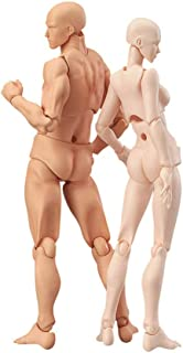 Adobee Drawing Figures For Artists Action Figure Model Human Mannequin Man andWoman Set (A)