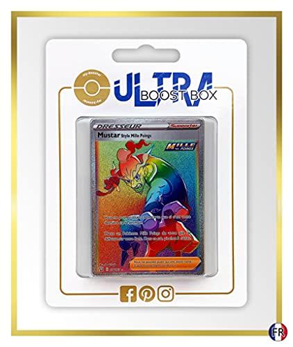 Mustar Style MillePoings (Mostaz Estilo Fluido) 176/163 Arcoíris Secreta Entrenadore - Ultraboost X Epée et Bouclier 5 Style de Combat - Box de 10 Cartas Pokémon Francés