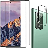 Galaxy Note 20 Screen Protector and Camera Protector, [2 Screen Protectors + 1 Camera Protector][Support Fingerprint] Tempered Glass Screen Protector for Samsung Galaxy Note 20 5G