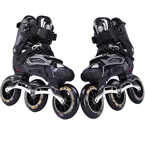 Inline Skates Adult Professional Semi-Soft Speed Skating Schuhe Skates Pp Shell Aluminiumlegierung Bracket Roller Blades Verstellbarer Messerhalter Geeignet Für Damen Anfänger 35-44,37