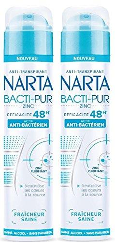 NARTA Déodorant Spray Femme Anti-transpirant et Anti-Bactérien 48h 200.0 ml - Lot de 2