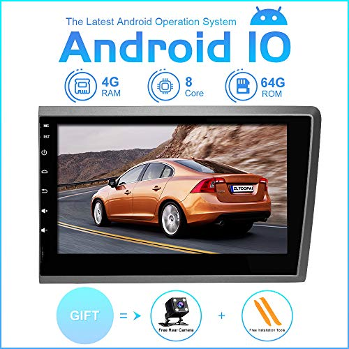 ZLTOOPAI Android autoradio stereo, voor Volvo S60 V70 XC70 2000-2004 hoofdunit Android 9,0 Octa Core 4G RAM 64G ROM 8 inch capacitief HD-scherm auto stereo GPS-radio met vrije achteruitrijcamera