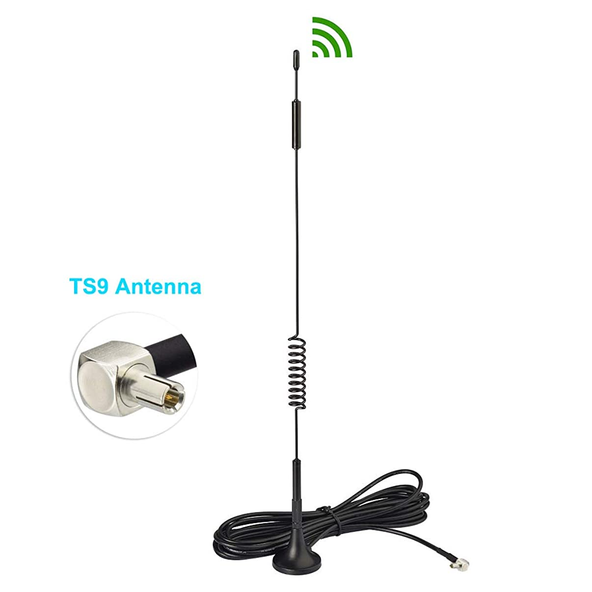 Bingfu 4G LTE 7dBi Magnetic Base TS9 Antenna Compatible with Verizon AT&T T-Mobile Sprint Netgear Huawei MiFi Mobile Hotspot Router USB Modem Jetpack AirCard AC791L 6620L AC815S AC770S AC781S MR1100