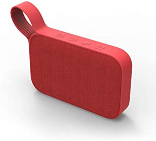 Red Fabric Wireless Speaker Portable Subwoofer Speaker Outdoor Waterproof HiFi Stereo Long Playing Time One Button Handfree